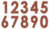 Numbers of bricks — Stock Vector