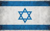 Abstract Mosaic flag of Israel — Stock Vector