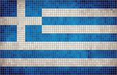 Abstract Mosaic flag of Greece — Stock vektor