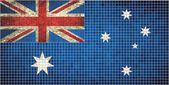 Australian Flag Mosaic — Vector de stock