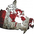 Canadian map grunge mosaic — Stock Vector #51219015
