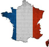 France map grunge mosaic — Vector de stock