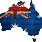 Постер, плакат: Australian map grunge mosaic