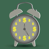 Money concepts with time is money — Stock vektor