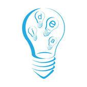 Light idea symbol isolated white background — Stock Vector