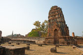 The old temple and design of temple in Ayutthaya,Thailand — Stock Photo