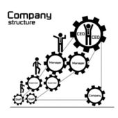 Company structure and organization diagram for business teamwork concept — Stock Vector