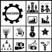 Business success icon — Stock Vector