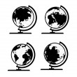 Vector set of 3D world map or globe, series 3 — Stock Vector #36854063