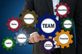 Business element and function to present team concept by gear — Stock Photo