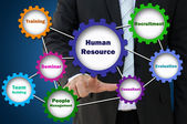 Job and role of human resources present by gear — Stock Photo