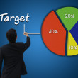 Businessman with target achievement of business concept — Stock Photo #36870305