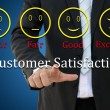 Customer satisfaction concept — Stock Photo