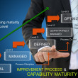 Stock Photo: Improvement process of capability maturity model for business concept