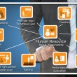 Human Resource Role and Responsibility Concept — 图库照片