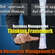 Business and human resources management for framework concept — Stock Photo