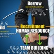 Business recruitment for human resources concept — Stock fotografie