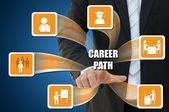 Business icon of career path concept — Stock Photo