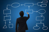 Empty business chart or business diagram — Stock Photo