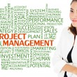 How to reach achievement of project management for business concept — Stock Photo