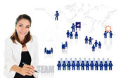 Working teamwork for business development concept — Stock Photo