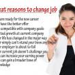 Stock Photo: Reason to change job for humresources concept