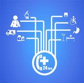 Sağlık ve tıbbi diyagramı — Stok Vektör