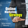 Online Marketing Strategy Concept — Stock Photo