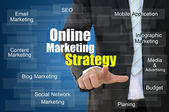 Online marketingové strategie koncepce — Stock fotografie