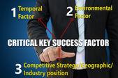 Critical key success factor — Stockfoto
