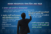 Human Resources Function and Roles — Stock Photo