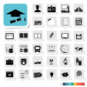Education Icon in Business Category Concept — Stock Vector