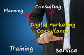 Digital Marketing Consultancy Role and Responsibility — Stock Photo