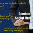 How to conduct social marketing campaign — Stock Photo