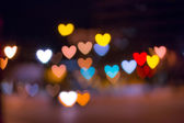 Out of focus area in heart shape — Stock Photo