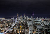 Downtown Toronto at night — Stock Photo