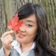 Portrait of girl during autumn — Stock Photo #35223399