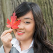 Portrait of girl during autumn — Stock Photo #35224359