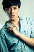 Fashion pose by male model — Photo