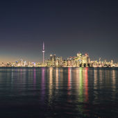 Night scene of downtown Toronto — Stock Photo