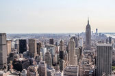 Cityscape view of lower New York City — Stock Photo