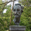 Shakespeare statue in theme garden — Stock Photo