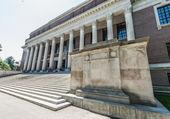 Biblioteca de widener de la universidad de harvard — Foto de Stock