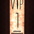 VIP sign with fiery background — Stock Photo