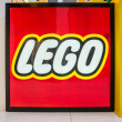 Stock Photo: Large Lego logo in Mall of America