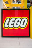 Large Lego logo in Mall of America — Stock Photo