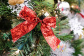 Christmas decorations on a tree — Stock Photo