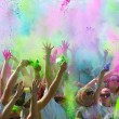 Stock Photo: Minneapolis color run with participants