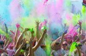 Minneapolis color run with participants — Stock Photo