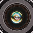Front element of a camera lens — Stock Photo